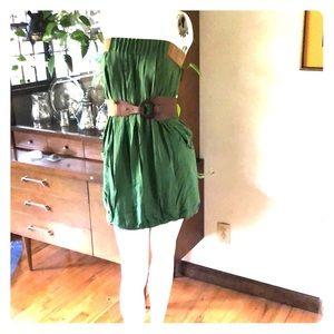 Strapless mini sundress or tunic.